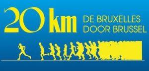Logo van de 20km van Brussel loopwedstrijd