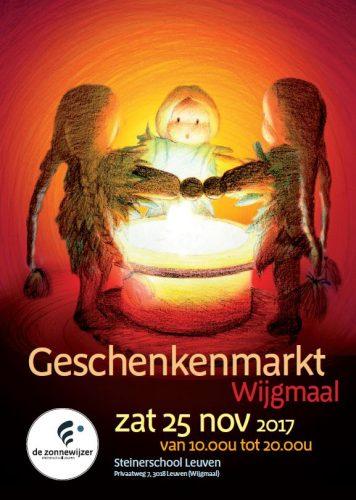 Sfeervolle geschenkenmarkt op    zaterdag 25 november vanaf 10.00u