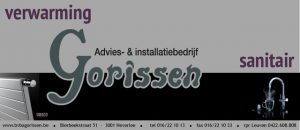 logo van de firma Gorissen verwarming en sanitair